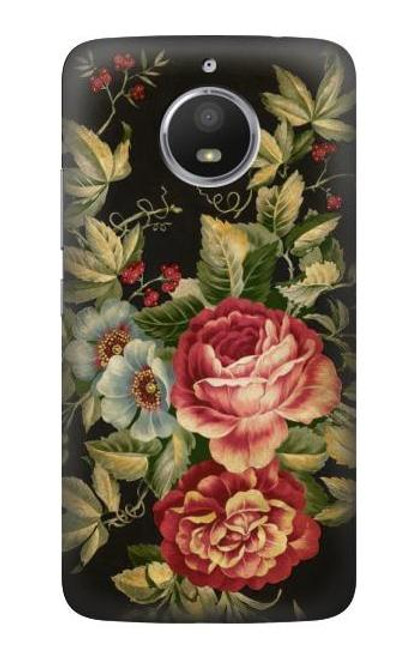 S3013 Vintage Antique Roses Case For Motorola Moto E4 Plus