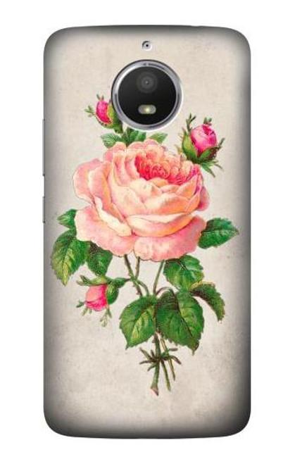 S3079 Vintage Pink Rose Case For Motorola Moto E4 Plus