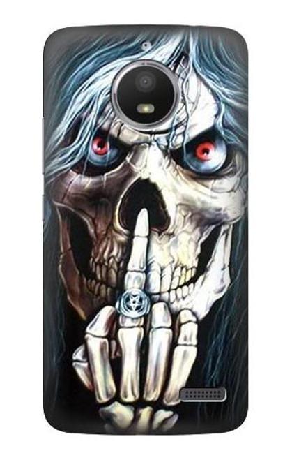 S0222 Skull Pentagram Case For Motorola Moto E4