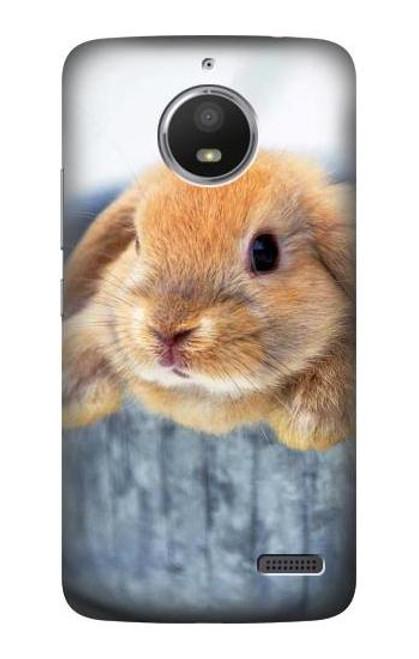 S0242 Cute Rabbit Case For Motorola Moto E4