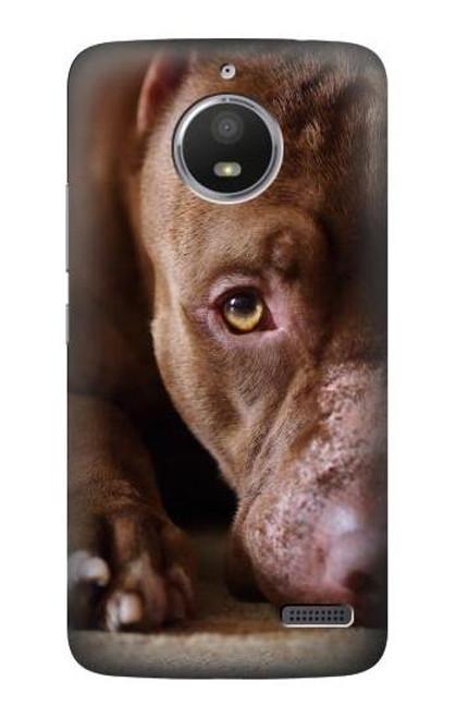 S0519 PitBull Face Case For Motorola Moto E4