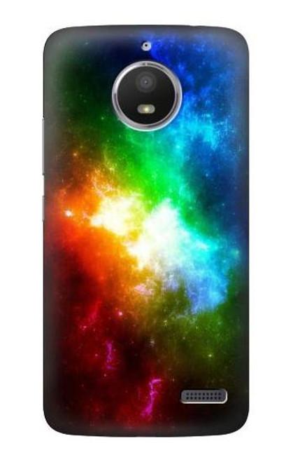 S2312 Colorful Rainbow Space Galaxy Case For Motorola Moto E4