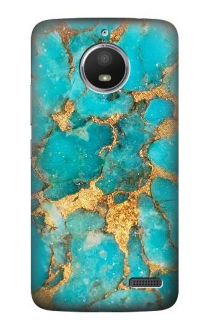 S2906 Aqua Turquoise Stone Case For Motorola Moto E4