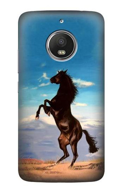 S0934 Wild Black Horse Case For Motorola Moto G5S