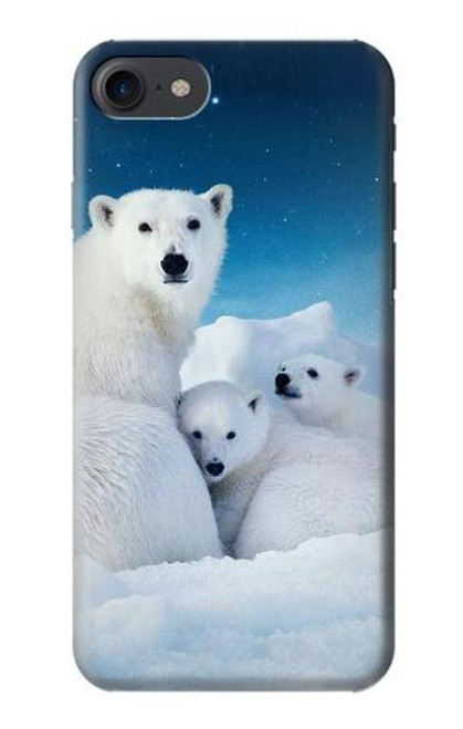 S0285 Polar Bear Family Arctic Case For iPhone 7, iPhone 8