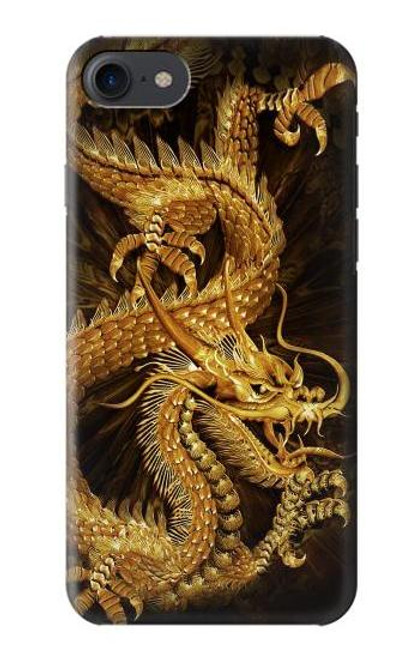 S2804 Chinese Gold Dragon Printed Case For iPhone 7, iPhone 8