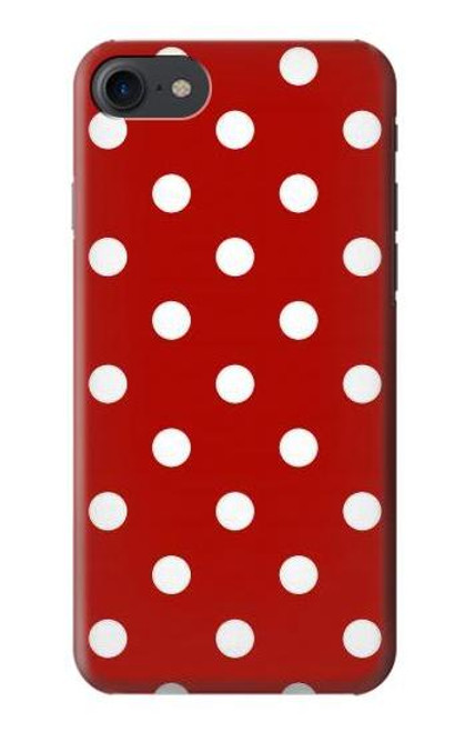 S2951 Red Polka Dots Case For iPhone 7, iPhone 8