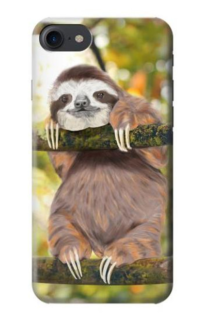 S3138 Cute Baby Sloth Paint Case For iPhone 7, iPhone 8