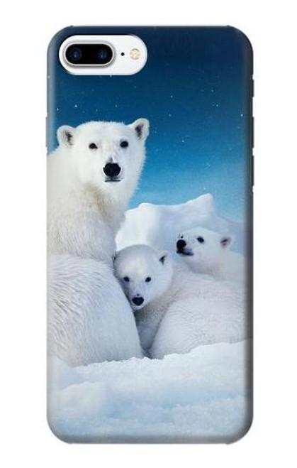 S0285 Polar Bear Family Arctic Case For iPhone 7 Plus, iPhone 8 Plus