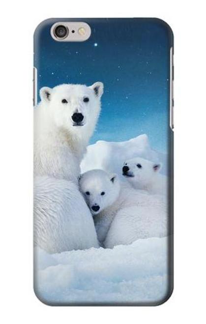 S0285 Polar Bear Family Arctic Case For iPhone 6 6S