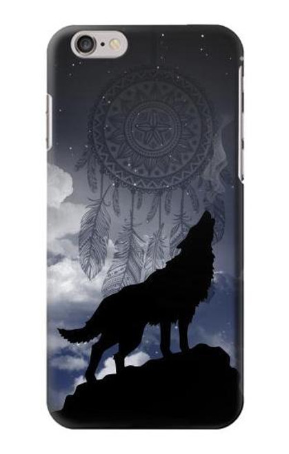 S3011 Dream Catcher Wolf Howling Case For iPhone 6 6S