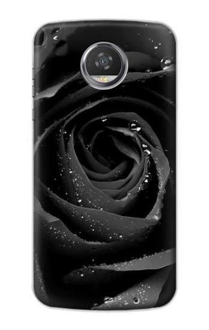S1598 Black Rose Case For Motorola Moto Z2 Play, Z2 Force
