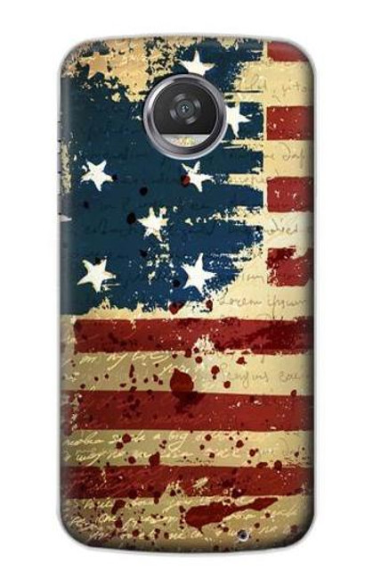 S2349 Old American Flag Case For Motorola Moto Z2 Play, Z2 Force