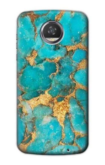 S2906 Aqua Turquoise Stone Case For Motorola Moto Z2 Play, Z2 Force