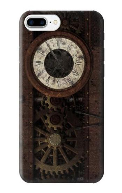 S3221 Steampunk Clock Gears Case For iPhone 7 Plus, iPhone 8 Plus