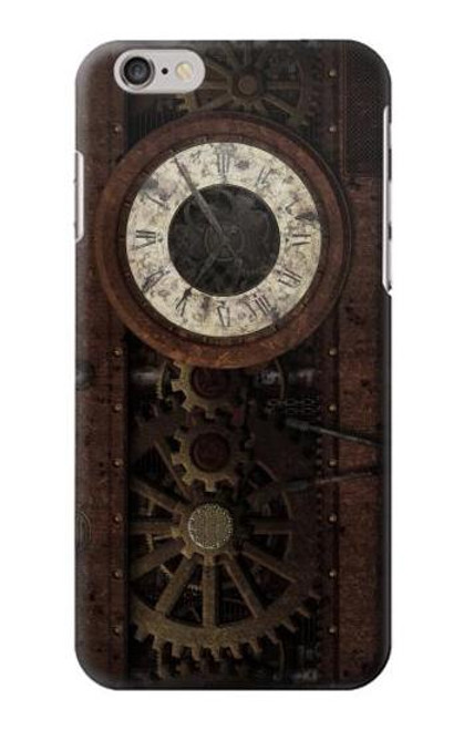 S3221 Steampunk Clock Gears Case For iPhone 6 6S