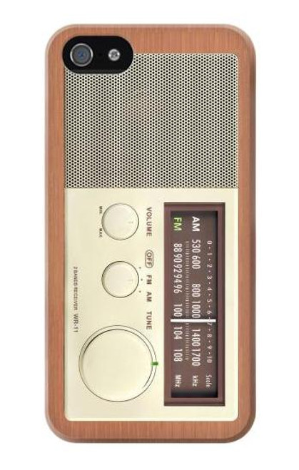 S3165 FM AM Wooden Receiver Graphic Case For iPhone 4 4S