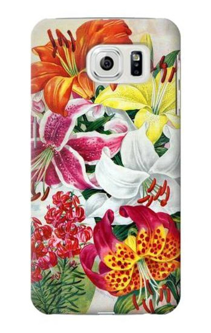 S3205 Retro Art Flowers Case For Samsung Galaxy S7 Edge