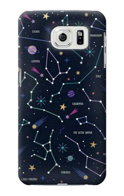 S3220 Star Map Zodiac Constellations Case For Samsung Galaxy S7 Edge