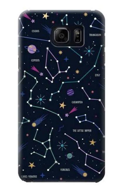 S3220 Star Map Zodiac Constellations Case For Samsung Galaxy S6 Edge Plus