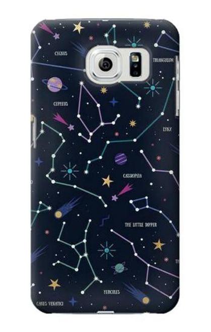 S3220 Star Map Zodiac Constellations Case For Samsung Galaxy S6 Edge