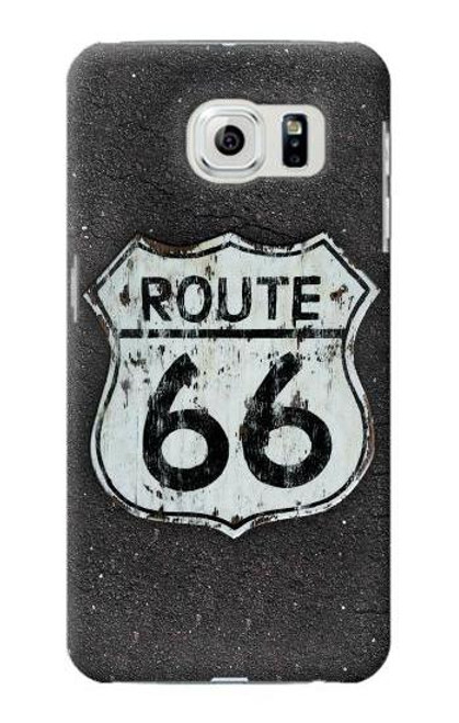 S3207 Route 66 Sign Case For Samsung Galaxy S6