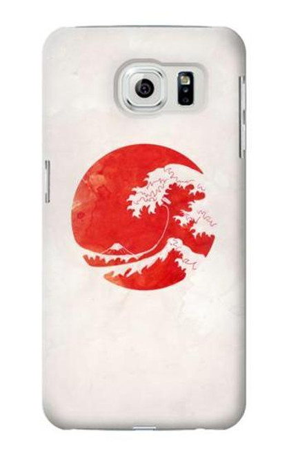 S3237 Waves Japan Flag Case For Samsung Galaxy S6