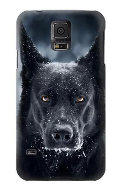 S3168 German Shepherd Black Dog Case For Samsung Galaxy S5