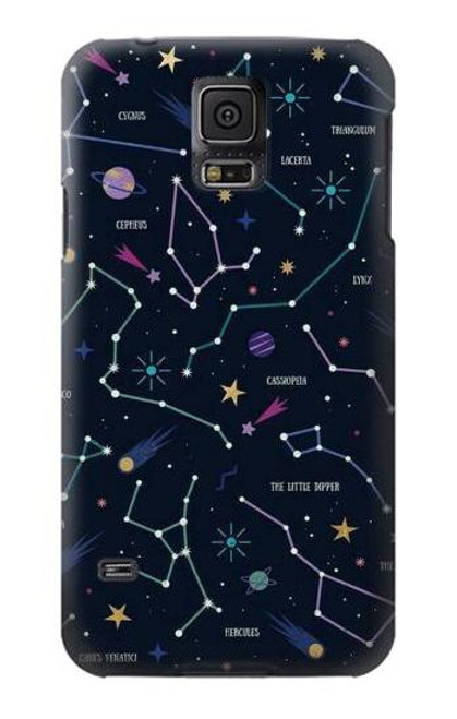 S3220 Star Map Zodiac Constellations Case For Samsung Galaxy S5