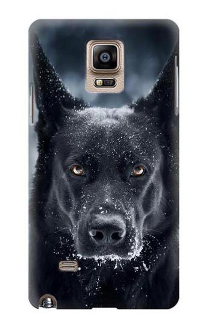 S3168 German Shepherd Black Dog Case For Samsung Galaxy Note 4