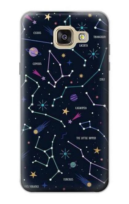 S3220 Star Map Zodiac Constellations Case For Samsung Galaxy A5 (2016)