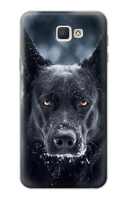 S3168 German Shepherd Black Dog Case For Samsung Galaxy J7 Prime (SM-G610F)