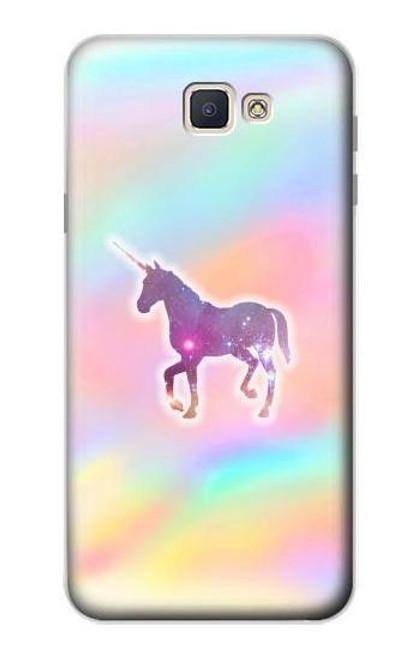 S3203 Rainbow Unicorn Case For Samsung Galaxy J7 Prime (SM-G610F)