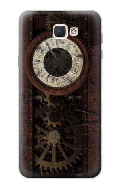 S3221 Steampunk Clock Gears Case For Samsung Galaxy J7 Prime (SM-G610F)