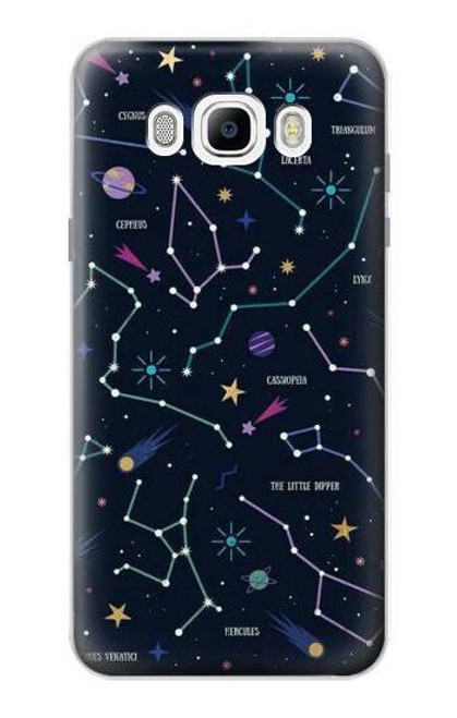 S3220 Star Map Zodiac Constellations Case For Samsung Galaxy J7 (2016)