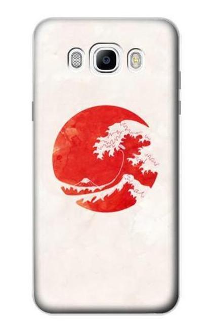 S3237 Waves Japan Flag Case For Samsung Galaxy J7 (2016)