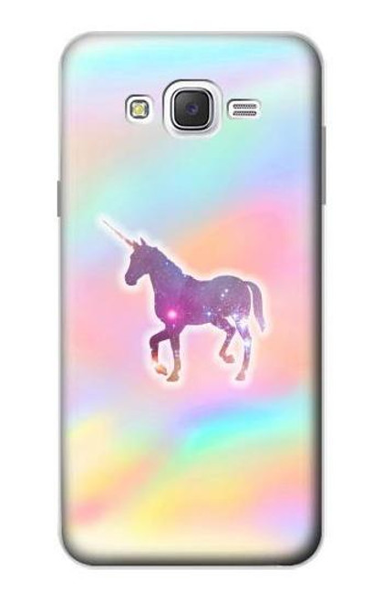 S3203 Rainbow Unicorn Case For Samsung Galaxy J7