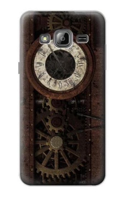 S3221 Steampunk Clock Gears Case For Samsung Galaxy J3 (2016)