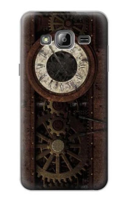 S3221 Steampunk Clock Gears Case For Samsung Galaxy J3 (2016)