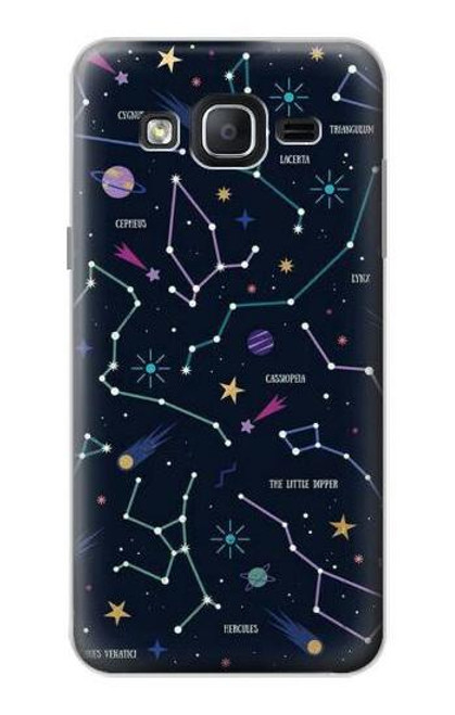 S3220 Star Map Zodiac Constellations Case For Samsung Galaxy On5