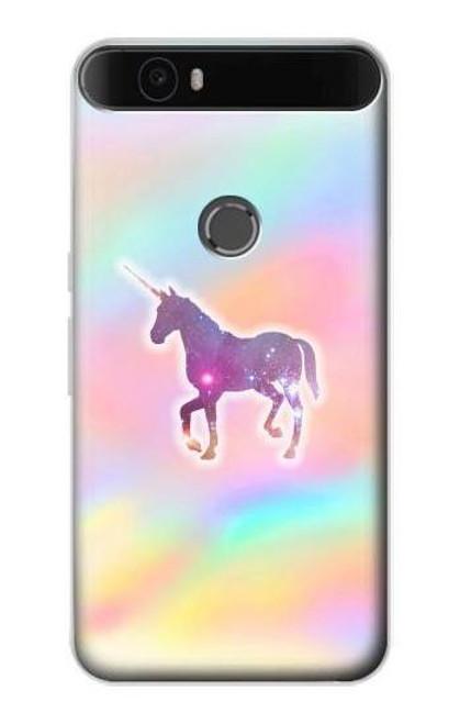 S3203 Rainbow Unicorn Case For Huawei Nexus 6P