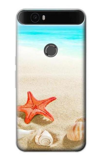 S3212 Sea Shells Starfish Beach Case For Huawei Nexus 6P