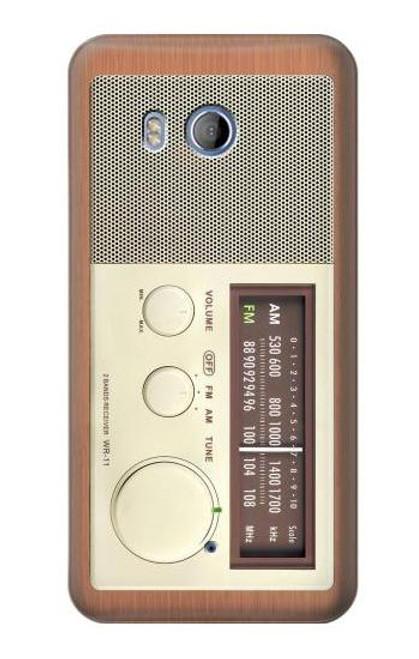S3165 FM AM Wooden Receiver Graphic Case For HTC U11