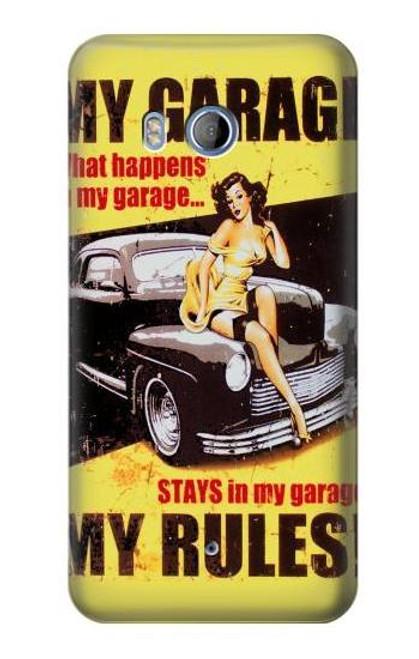 S3198 My Garage Pinup Girl Case For HTC U11