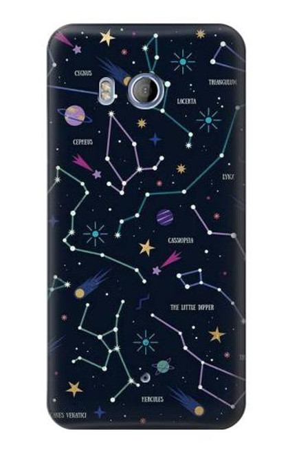 S3220 Star Map Zodiac Constellations Case For HTC U11
