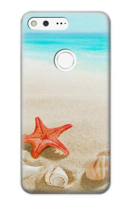 S3212 Sea Shells Starfish Beach Case For Google Pixel XL