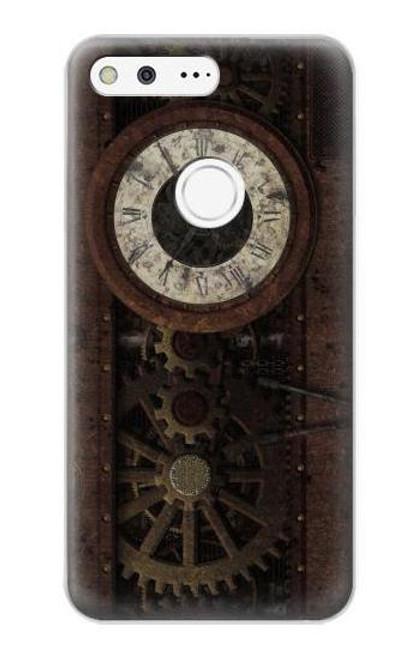 S3221 Steampunk Clock Gears Case For Google Pixel XL