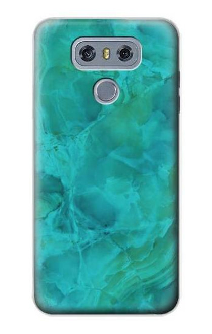 S3147 Aqua Marble Stone Case For LG G6