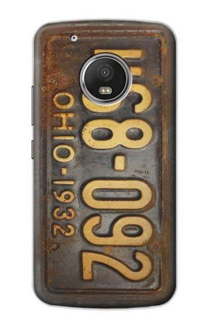 S3228 Vintage Car License Plate Case For Motorola Moto G5 Plus
