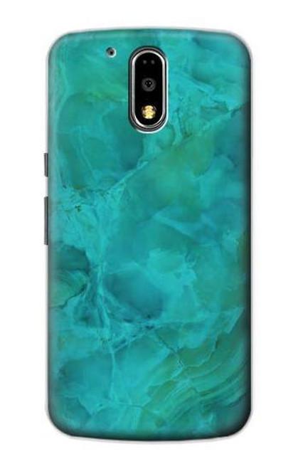 S3147 Aqua Marble Stone Case For Motorola Moto G4, G4 Plus